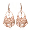 Rose Gold Veils Earrings - Petal Chandelier