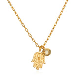 Radiant Blessings Hamsa Necklace