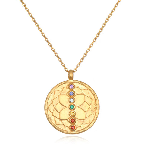 Gold Lotus Necklace - Delicate Flower