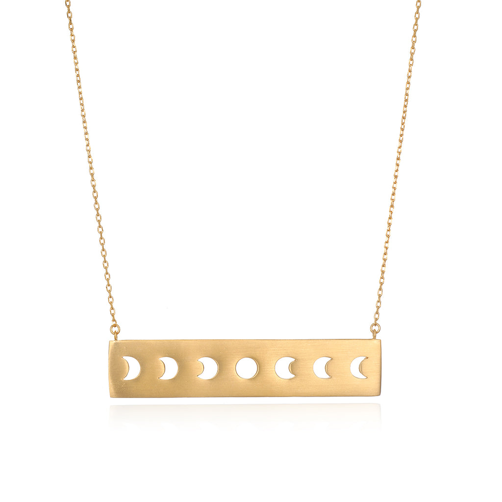 Yoga Girl Moon Phase Statement Necklace - Satya Jewelry