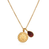 Mandala Birthstone Necklace - January - Satya Jewelry