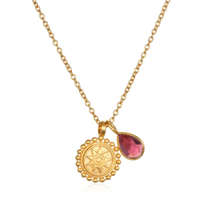 Mandala Birthstone Necklace - October - Satya Jewelry