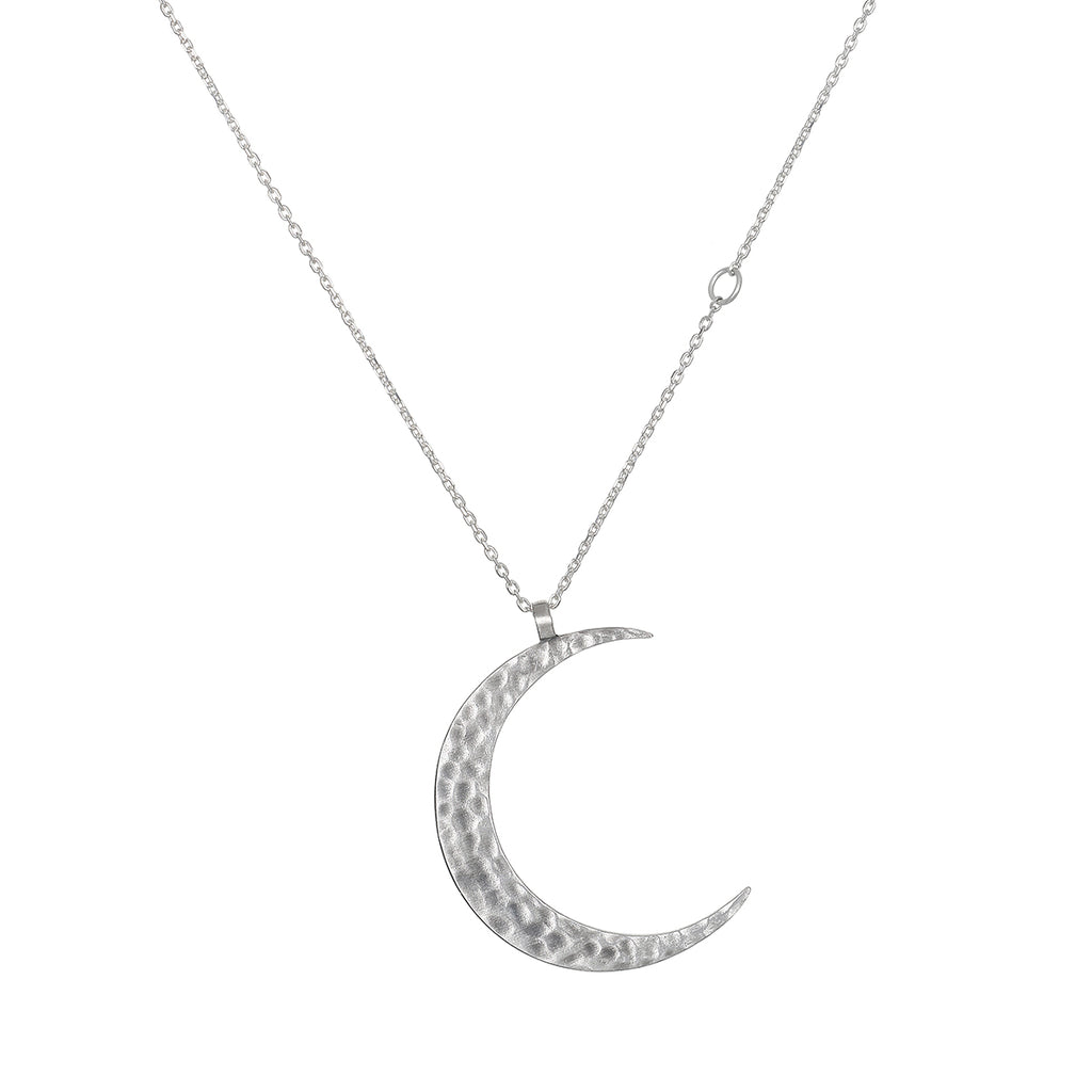 Yoga Girl New Moon Necklace - Satya Jewelry