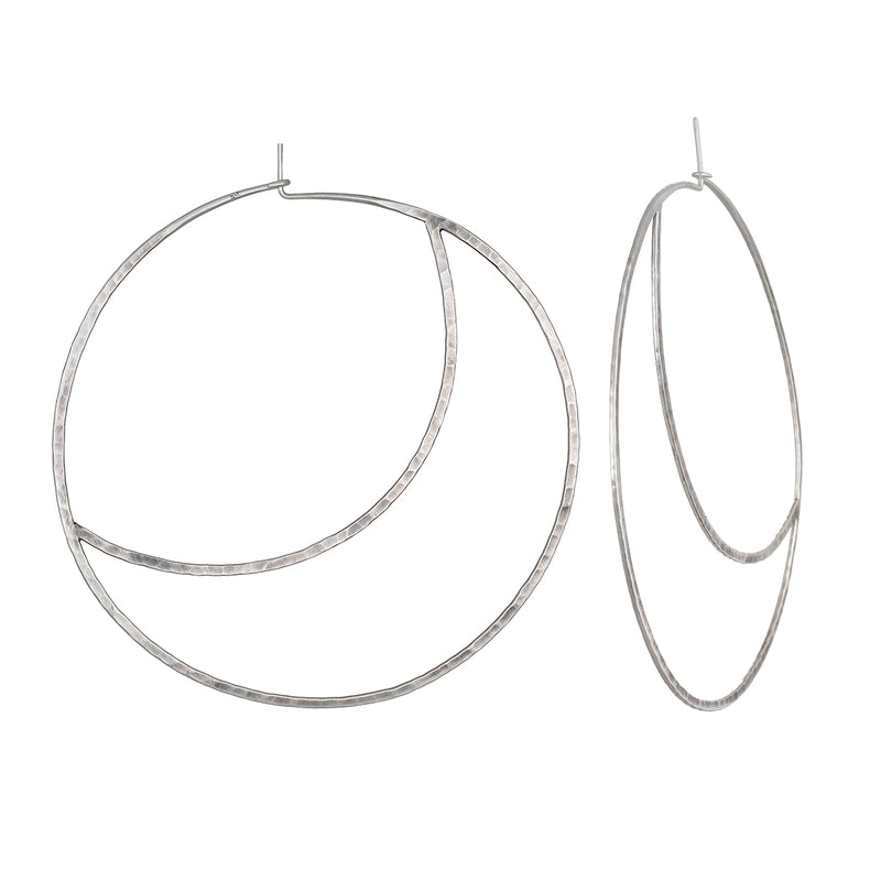Yoga Girl Moon Hoop Earrings - Satya Jewelry