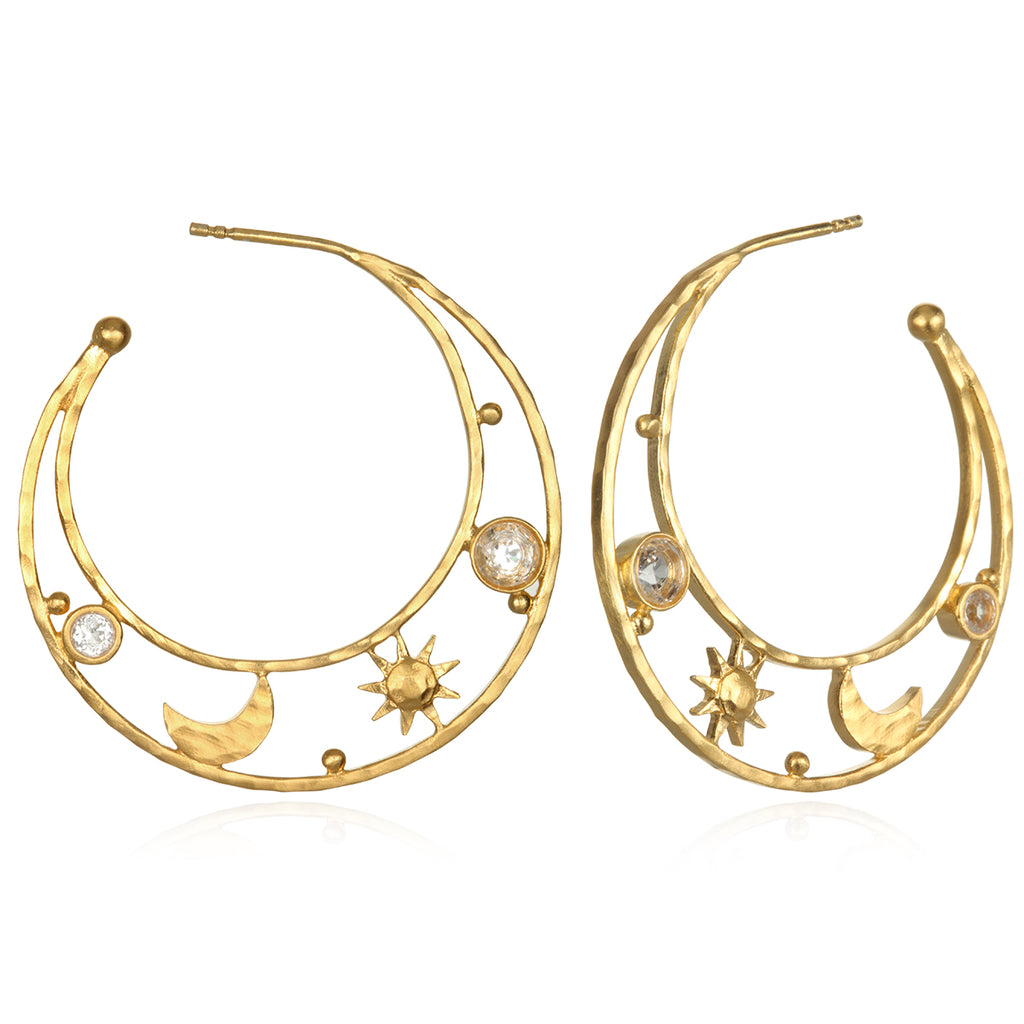 Lofty Illumination Gold Earrings