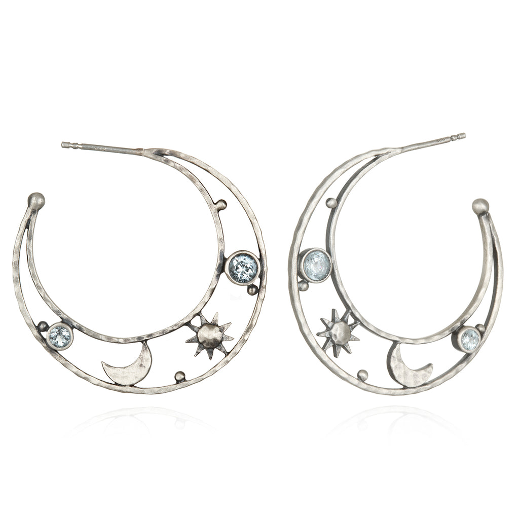 Lofty Illumination Silver Earrings