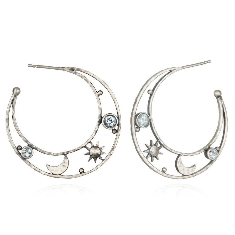Lofty Illumination Silver Earrings - Satya Jewelry