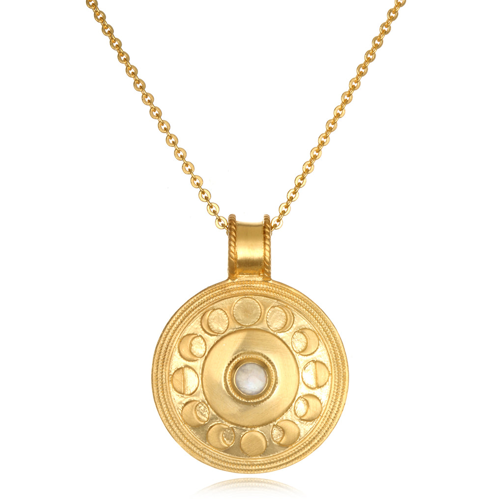 Cycles of the Moon Gold Necklace - Satya Jewelry