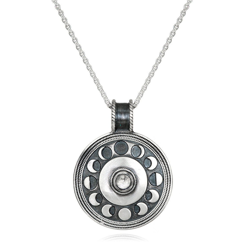 Cycles of the Moon Silver Necklace - Satya Jewelry