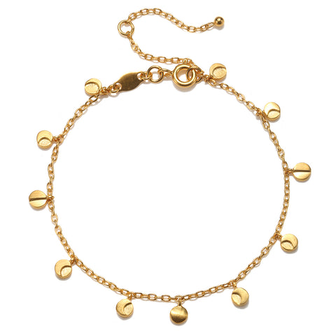 Gold Om, Hamsa And Lotus Charm Bracelet - Pieces Of You