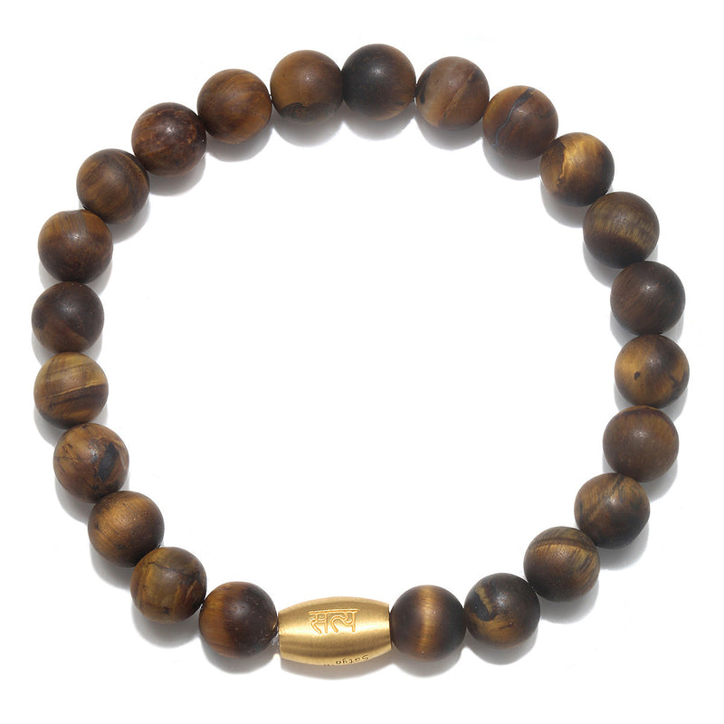 Sacred Insight Tigers Eye Mens Stretch Bracelet - Satya Jewelry
