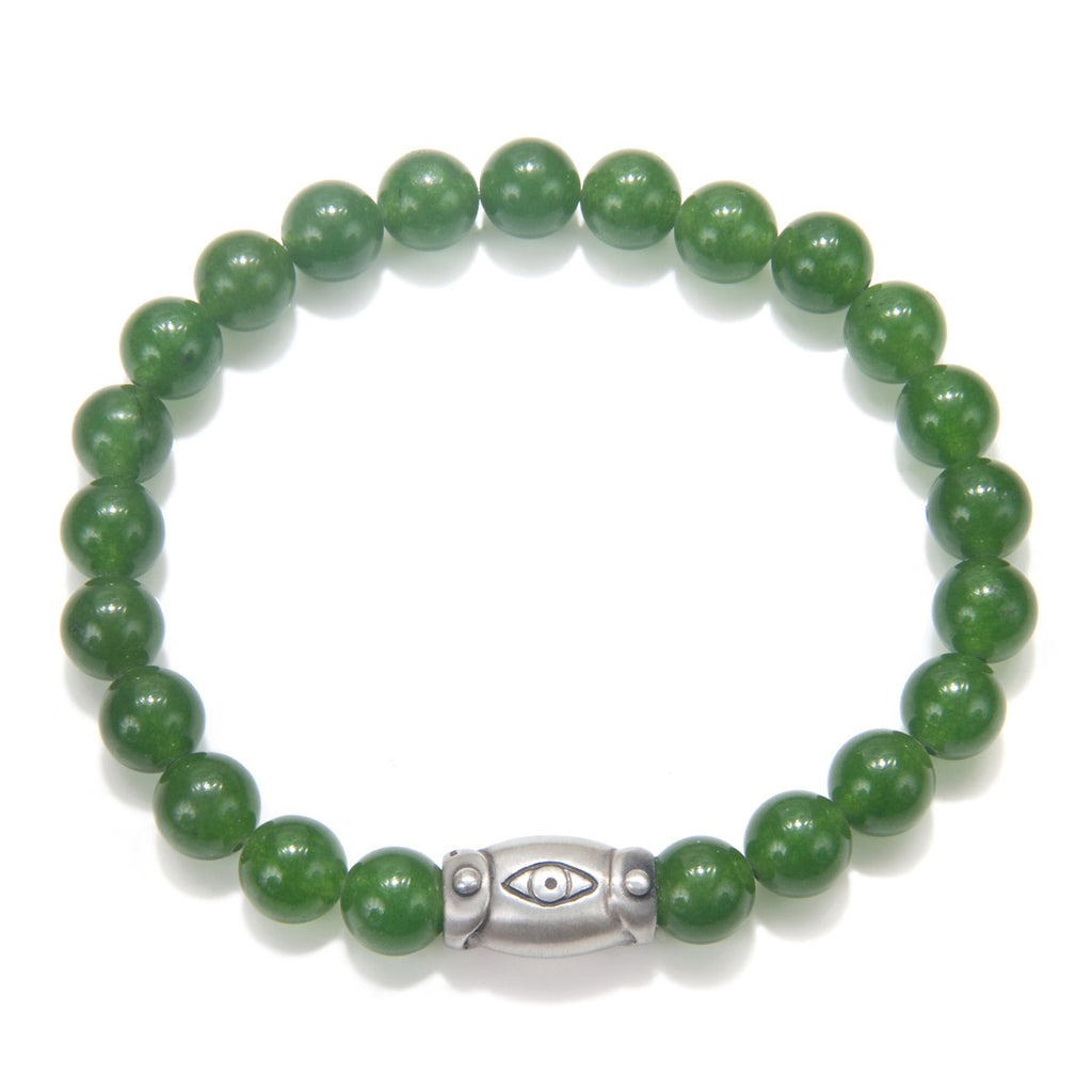 Men's Jade Clarity Stretch Bracelet - Satya Jewelry
