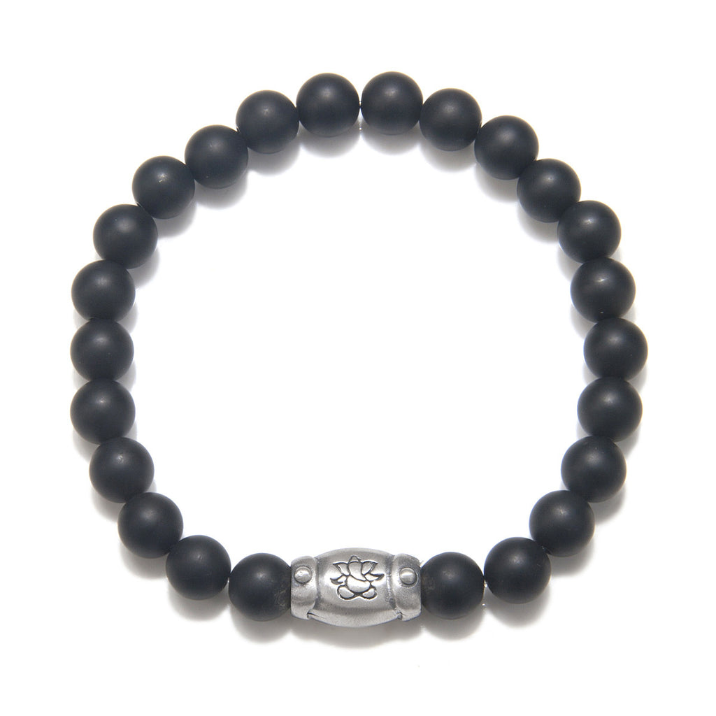 Men's Onyx Resonate Stretch Bracelet - Satya Jewelry