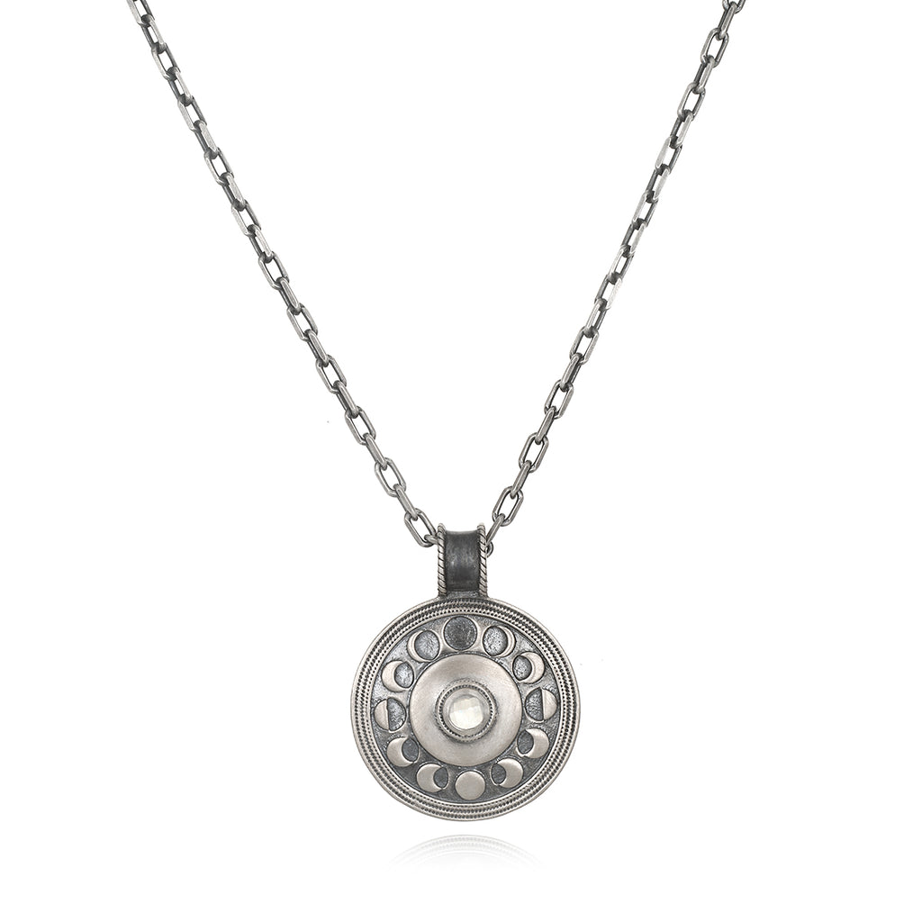 Cycles of the Moon Men's Necklace - Satya Jewelry