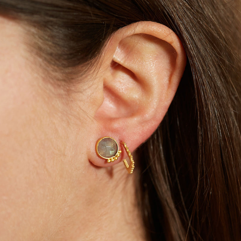 Lit from Within Gold Earrings - Satya Jewelry
