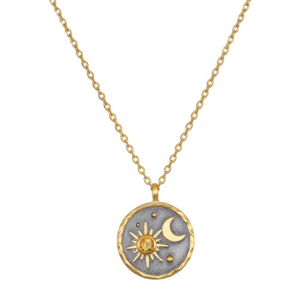 Celestial Birthstone Necklace - November