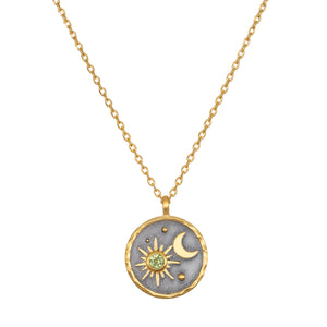 Celestial Birthstone Necklace - August