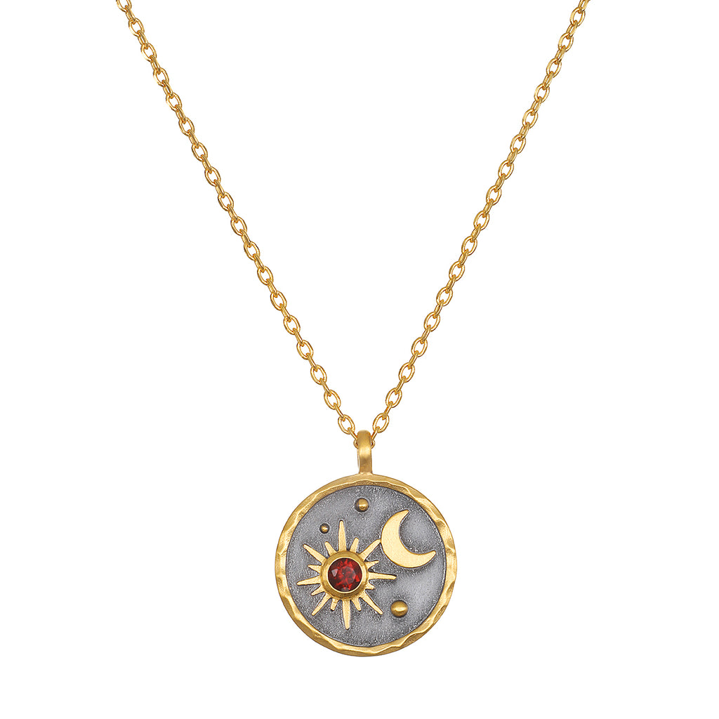 Celestial Birthstone Necklace - January