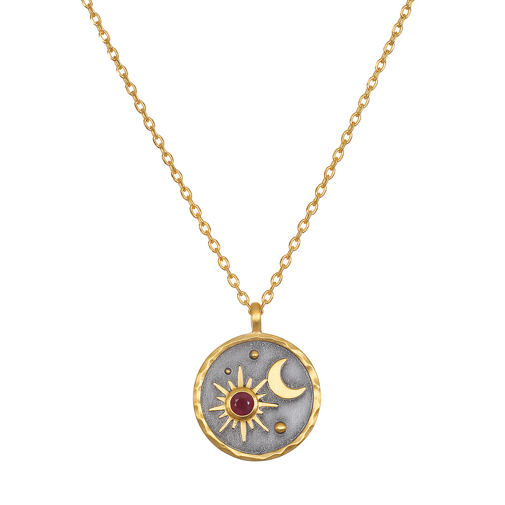 Celestial Birthstone Necklace - July