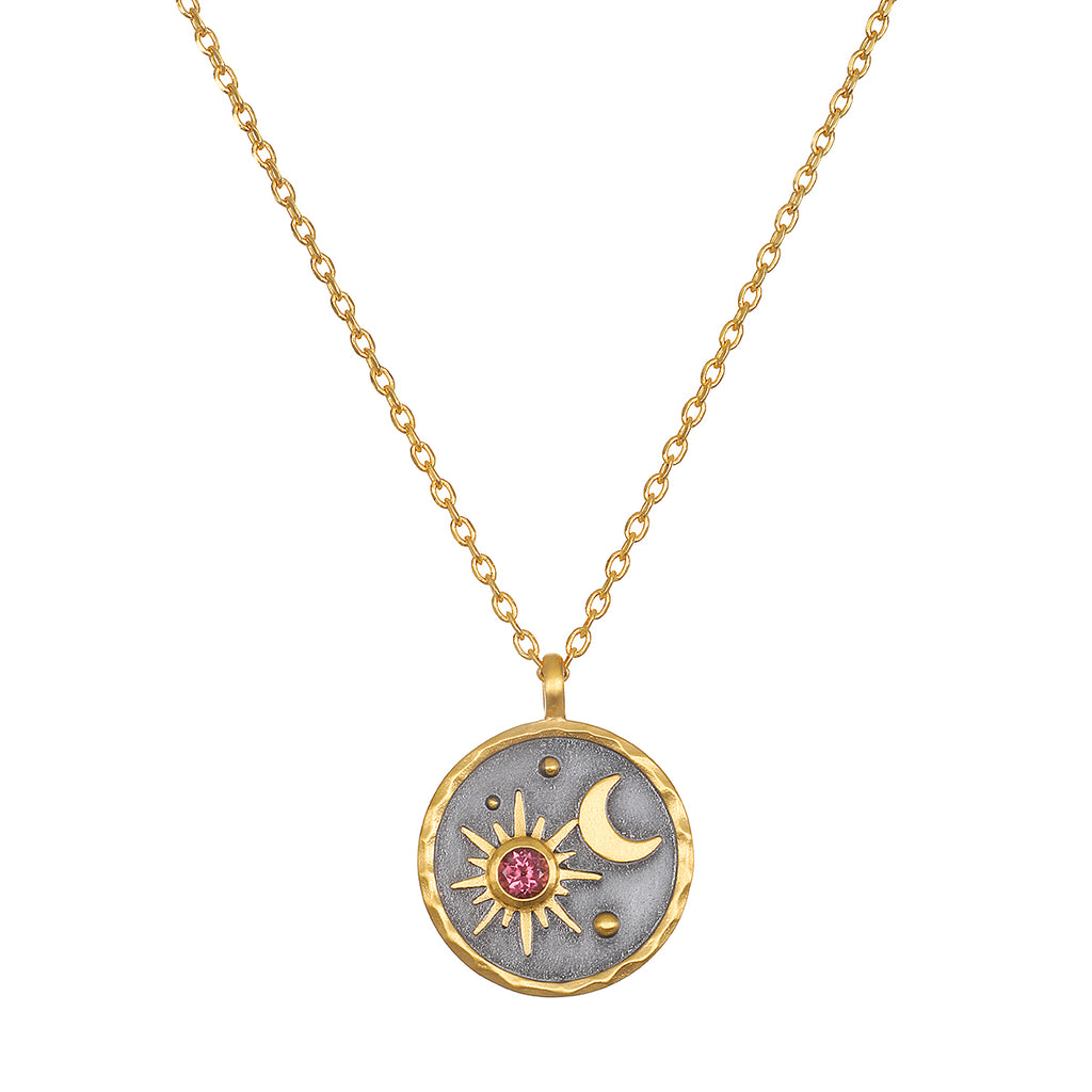 Celestial Birthstone Necklace - October