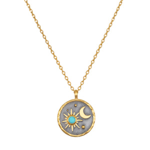 Celestial Birthstone Necklace - December
