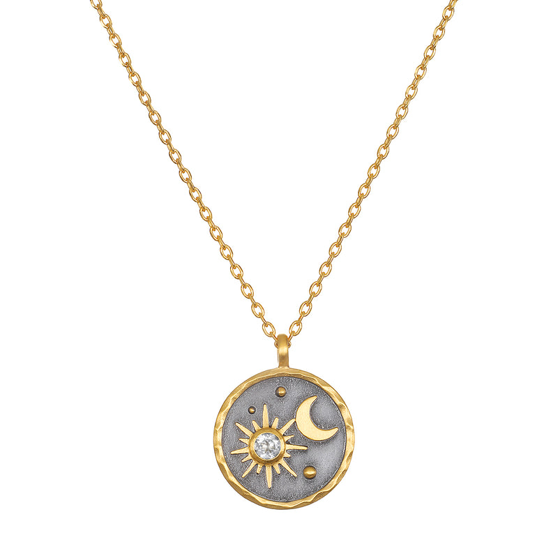 Celestial Birthstone Necklace - April