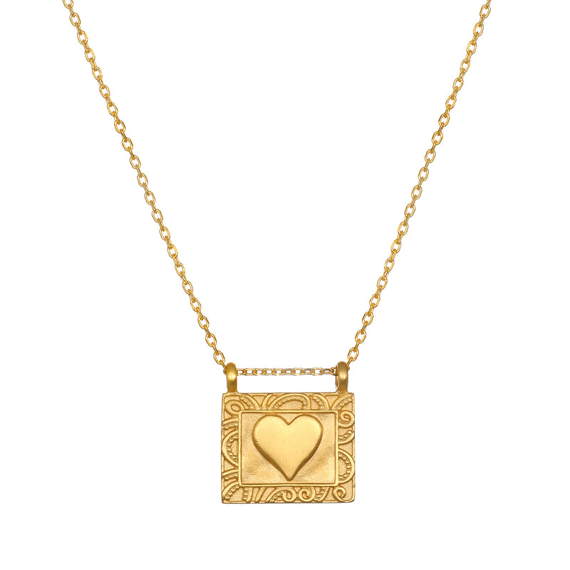 Heart Centered Gold Necklace - Satya Jewelry