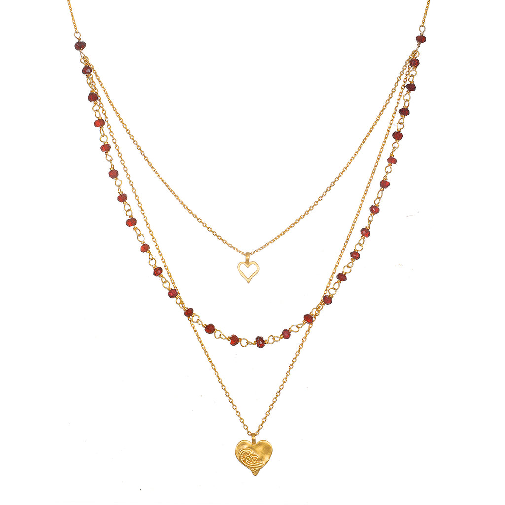 Bewitched by Love Faux Triple Necklace - Satya Jewelry