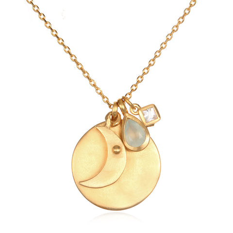 Capricorn Zodiac Necklace Gold