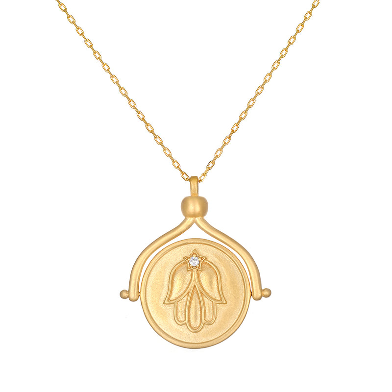 In Safekeeping Gold Spinner Necklace