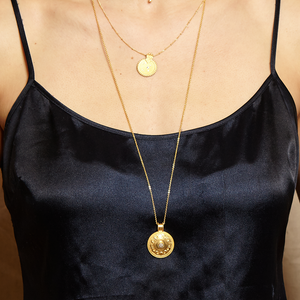 Cycles of the Moon Gold Necklace - Satya Online