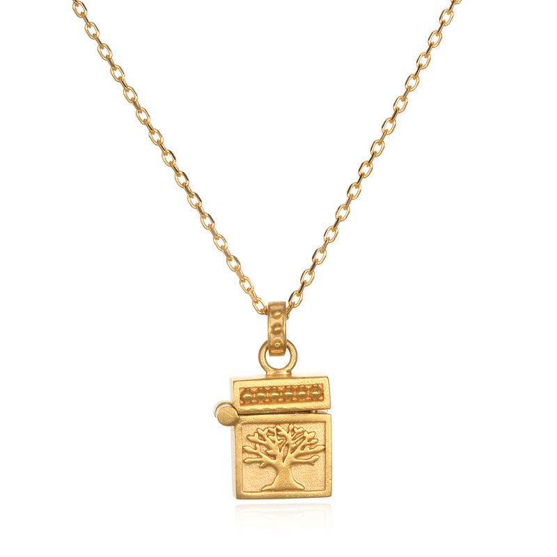 Rooted in Spirituality Gold Locket Necklace - Satya Jewelry