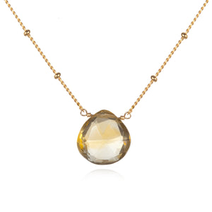 Gold Citrine Necklace - Brighter Than Sunshine - Satya Jewelry
