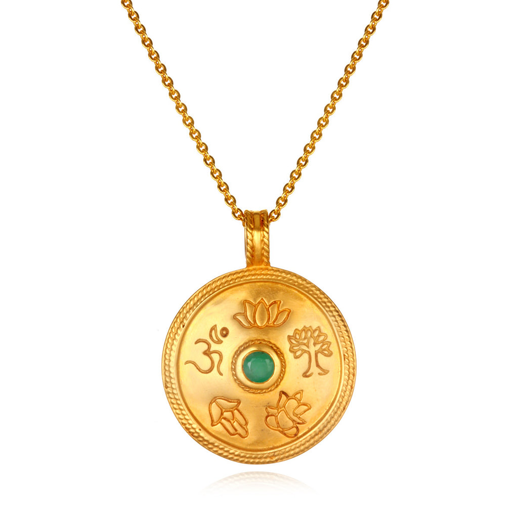 True Paths Emerald Pendant Necklace - Satya Jewelry