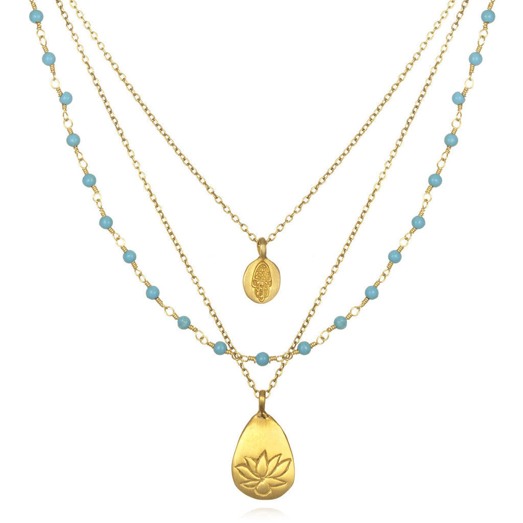 Turquoise Thrive Necklace - Satya Jewelry