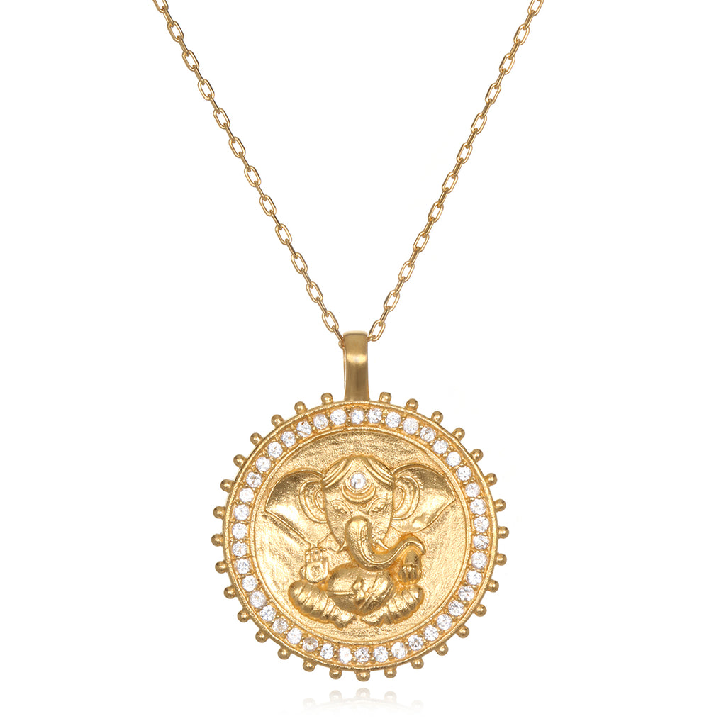 Ganesha Hindu God, Path to Success Necklace - Satya Jewelry