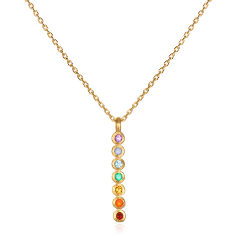 Lotus Birthstone Necklace - April