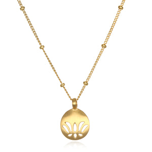 Begin Today Lotus Necklace - Satya Jewelry