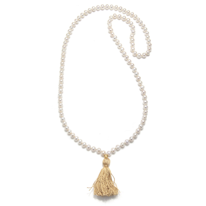 Gold Pearl Mala - Reflections - Satya Jewelry
