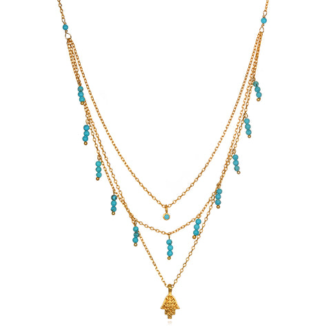 Illustrious Mala Gold Tassel Mala Necklace