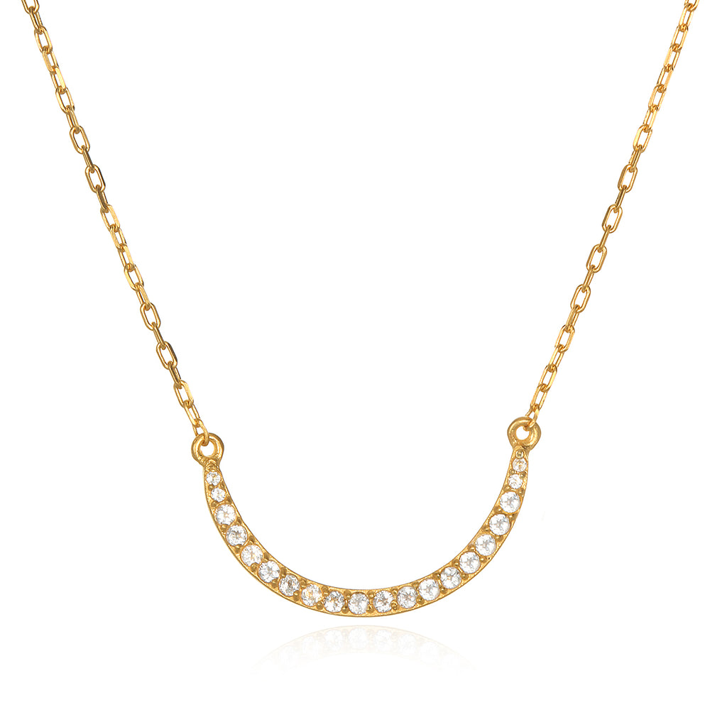 The Solluna Crescent Moonlight  Necklace