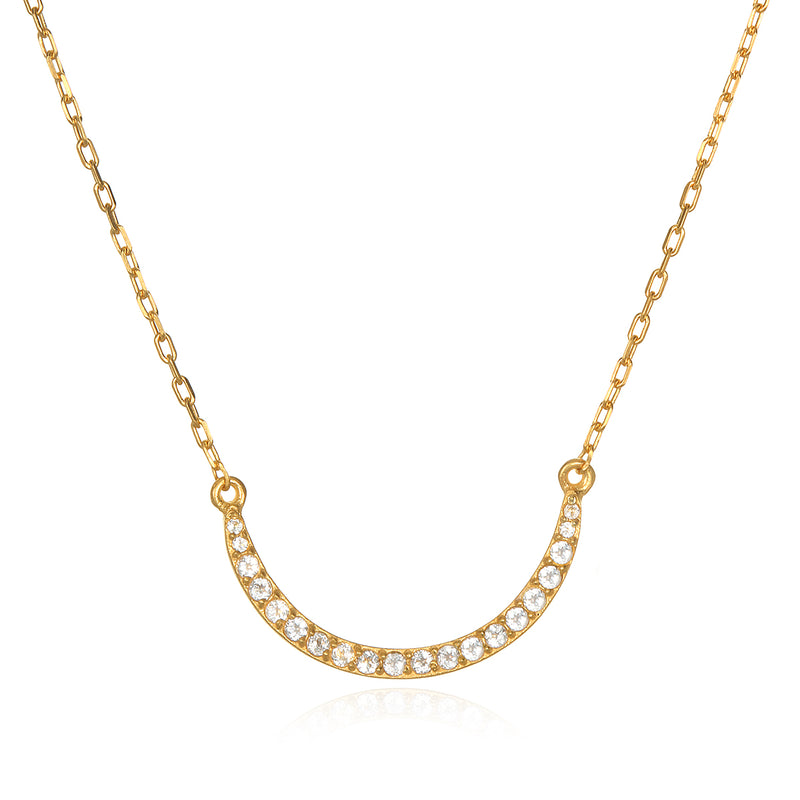 The Solluna Crescent Moonlight  Necklace - Satya Jewelry