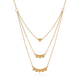 Emerging Dawn Gold Triple Necklace - Satya Jewelry