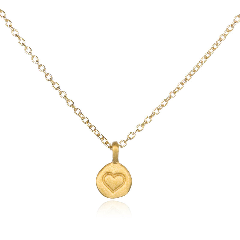 Love Heart Gold Pendant - Satya Jewelry