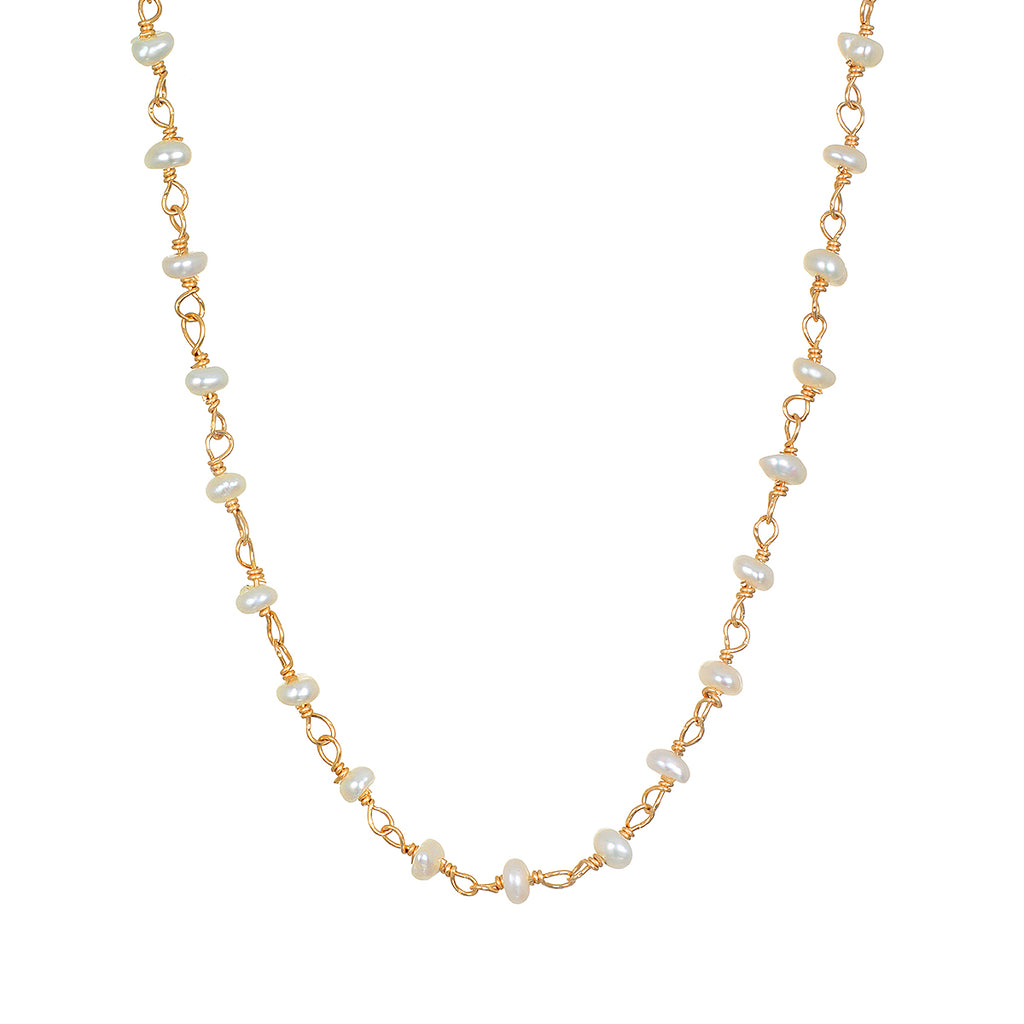 Scatter Light Pearl Choker Necklace