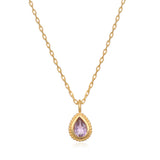Amethyst Gemstone Necklace - Satya Jewelry