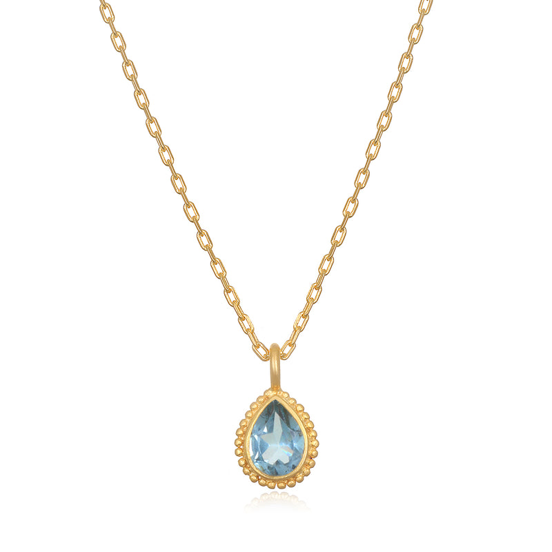 Blue Topaz Gemstone Necklace - Satya Jewelry