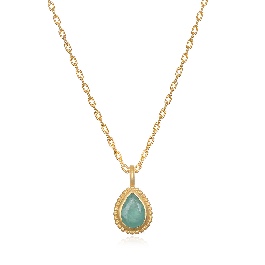 Emerald Gemstone Necklace - Satya Jewelry