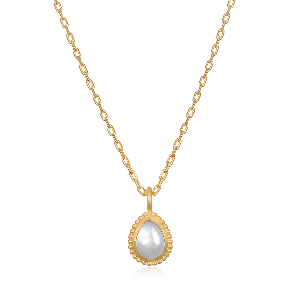 Pearl Gemstone Necklace - Satya Jewelry