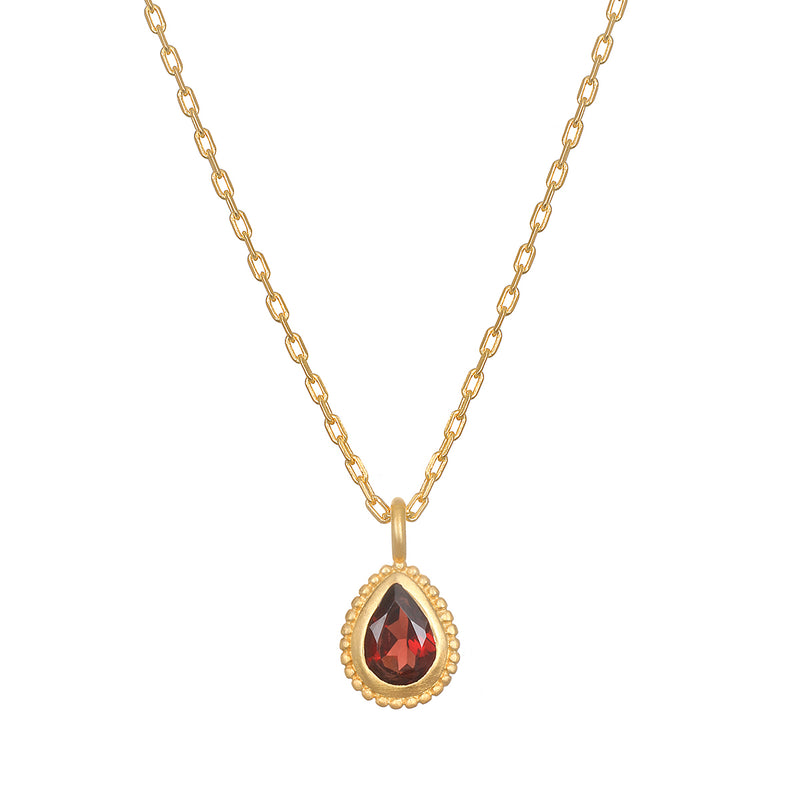Red Garnet Gemstone Necklace - Satya Jewelry